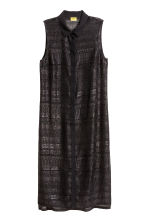 Sheer dress - Black/Glitter - Ladies | H&M CN 2