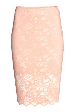 Lace pencil skirt - Powder - Ladies | H&M CN 2