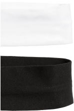 2-pack hairbands - Black/Light grey marl - Ladies | H&M 3