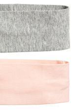 2-pack hairbands - Grey/Powder - Ladies | H&M 2