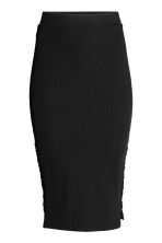 Pencil skirt with lacing - Black - Ladies | H&M 2