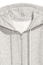 Hooded jacket - Light grey marl - Ladies | H&M 3