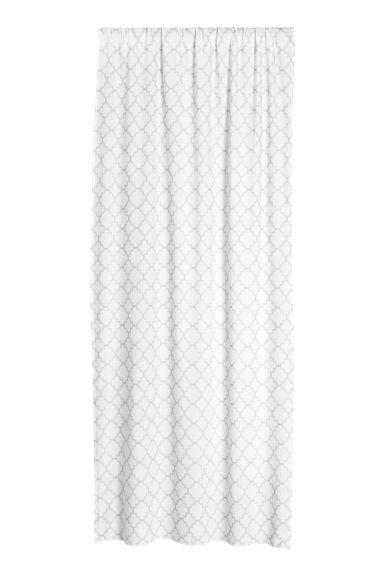 2-pack printed curtain lengths - White/Light grey - Home All | H&M CN 1