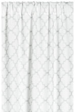 2-pack printed curtain lengths - White/Light grey - Home All | H&M CN 2