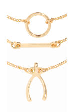 3-pack bracelets - Gold - Ladies | H&M CN 2