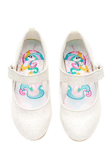 Glittery dressing up shoes - White/My Little Pony - Kids | H&M CN 1