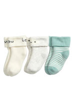3-pack socks - Light grey/Cloud - Kids | H&M 1