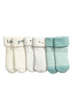 3-pack socks - Light grey/Cloud -  | H&M 2
