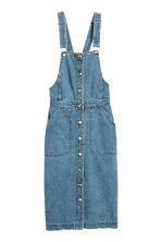 Denim dungaree dress - Denim blue - Ladies | H&M GB 2