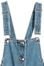 Denim dungaree dress - Denim blue - Ladies | H&M GB 4
