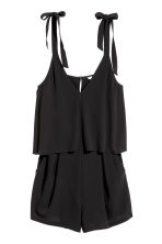 Tuta corta - Nero - DONNA | H&M IT 2