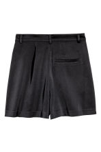 High-waisted satin shorts - Black - Ladies | H&M GB