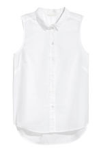 Sleeveless blouse - White - Ladies | H&M 2
