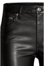 Imitation leather trousers - Black - Ladies | H&M 4