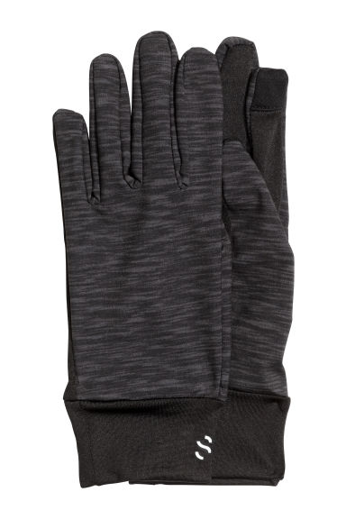 Running gloves - Dark grey marl - Ladies | H&M