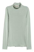 Polo-neck top - Mint green -  | H&M 2