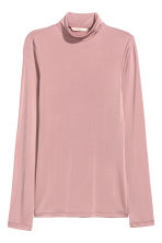Polo-neck top - Powder pink - Ladies | H&M CN 2