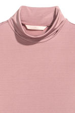 Polo-neck top - Powder pink -  | H&M CN 3