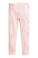Jersey leggings - Light pink/Butterflies -  | H&M 2