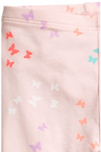 Jersey leggings - Light pink/Butterflies -  | H&M 3
