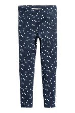 Jersey leggings - Dark blue/Heart - Kids | H&M CN 2