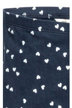 Jersey leggings - Dark blue/Heart - Kids | H&M CN 3