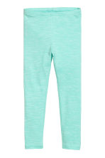 Jersey leggings - Mint green -  | H&M 2