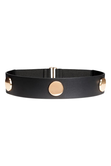 Wide waist belt - Black/Gold - Ladies | H&M CN 1