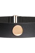 Wide waist belt - Black/Gold - Ladies | H&M CN 2