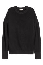 Rib-knit jumper - Black - Ladies | H&M 2