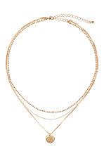 Three-strand necklace - Gold - Ladies | H&M GB 1