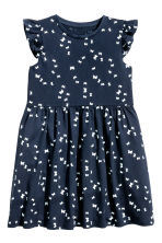 Jersey dress - Dark blue/Butterflies -  | H&M IE 2