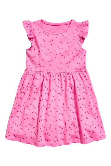平紋洋裝 - Cerise/Heart - Kids | H&M 1