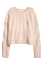 Knitted jumper - Powder pink marl - Ladies | H&M CN 2