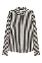 Long-sleeved blouse - Natural white/Striped - Ladies | H&M 2