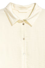 Long-sleeved blouse - Natural white -  | H&M 3