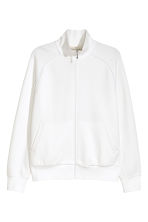 Zipped cardigan - White -  | H&M CA 2