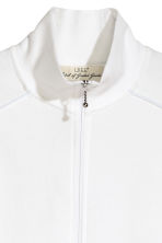 Zipped cardigan - White -  | H&M CN 3