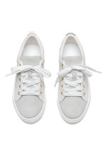 Leather and suede trainers - White/Light grey - Kids | H&M 2