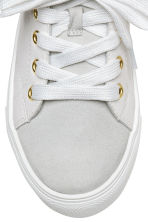 Leather and suede trainers - White/Light grey - Kids | H&M 3