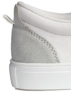 Leather and suede trainers - White/Light grey - Kids | H&M CN 4