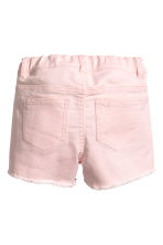 Embroidered twill shorts - Light pink - Kids | H&M 3