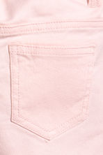 Embroidered twill shorts - Light pink - Kids | H&M 4