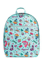 Patterned backpack - Turquoise - Kids | H&M 1