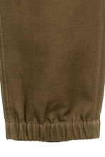 Cotton twill joggers - Khaki green - Men | H&M 4