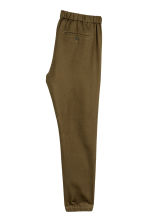 Cotton twill joggers - Khaki green - Men | H&M 3