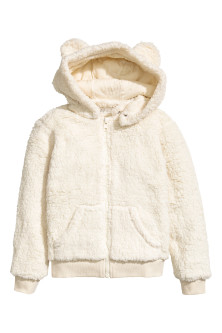 Hooded pile jacket