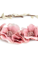 Hair decoration with flowers - Powder pink - Ladies | H&M IE 2