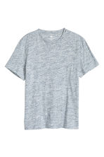 Round-neck T-shirt Regular fit - Light blue marl - Men | H&M 2