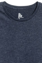 Round-neck T-shirt Regular fit - Dark blue marl - Men | H&M CN 3